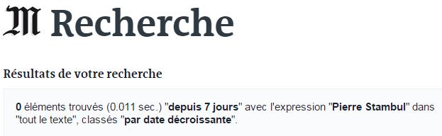 Le Monde Pierre Stambul