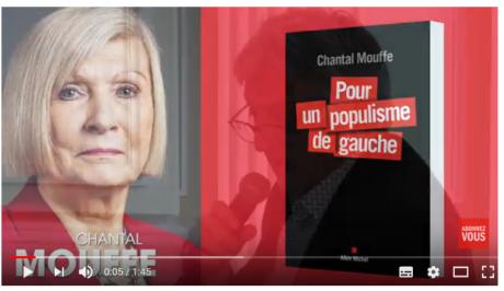 Le populisme de gauche, par Chantal Mouffe