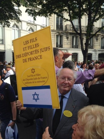 Les fils et filles de déportés instrumentalisés de façon obscène par Serge Klarsfeld pour justifier le massacre à Gaza