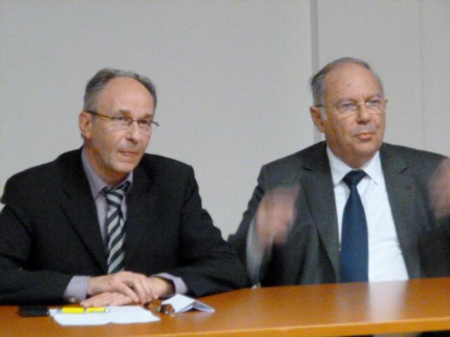 Public clairsemé pour Richard Prasquier, président du CRIF à Strasbourg