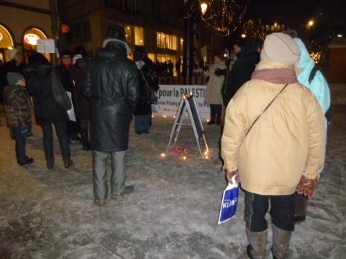 Rassemblement pour Gaza et critique des médias