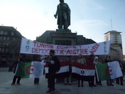 6e rassemblement à Strasbourg pour la révolution démocratique arabe