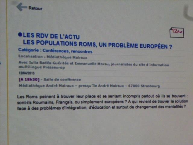 "Un ""problème"" rom?"