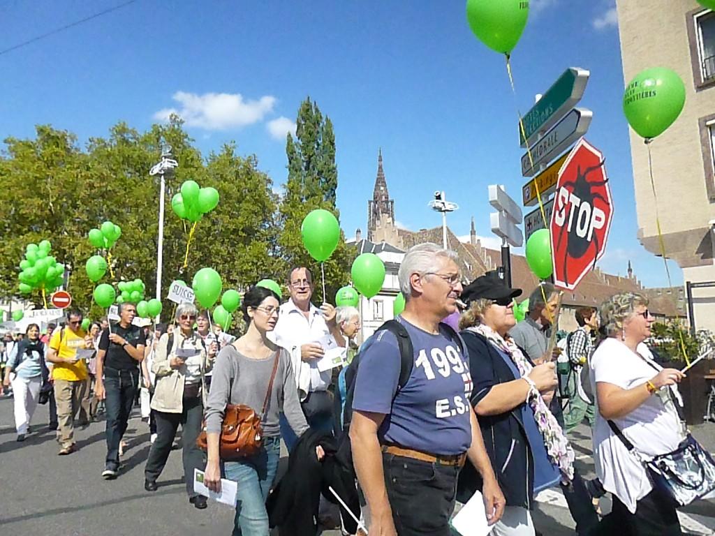 Manifestation à Strasbourg contre le déni de la borréliose de Lyme