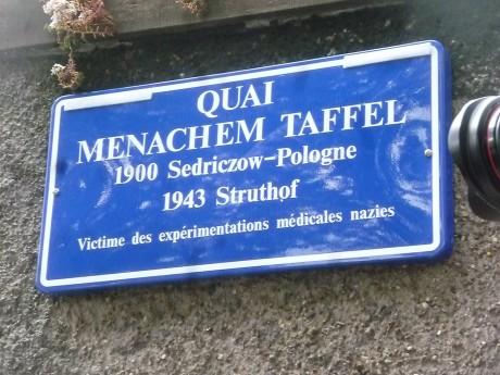 Cercle Menachem Taffel:  RDV le 01/12/18 à 11h15 devant l'Institut d'Anatomie normale à l'Hôpital civil de Strasbourg