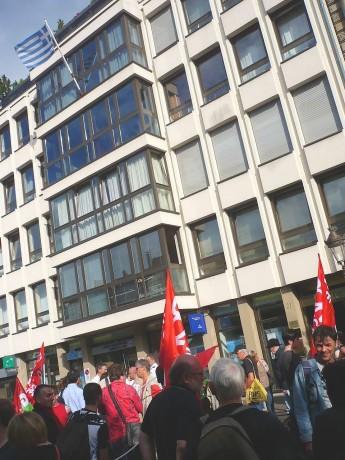 Soutien au peuple grec à Strasbourg
