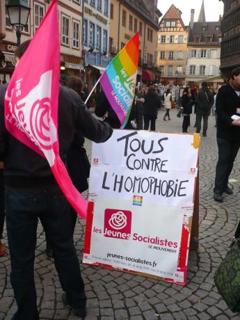 Tous contre l'homophobie, à Strasbourg comme partout