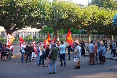 Manif à Strasbourg contre l'intervention en Syrie