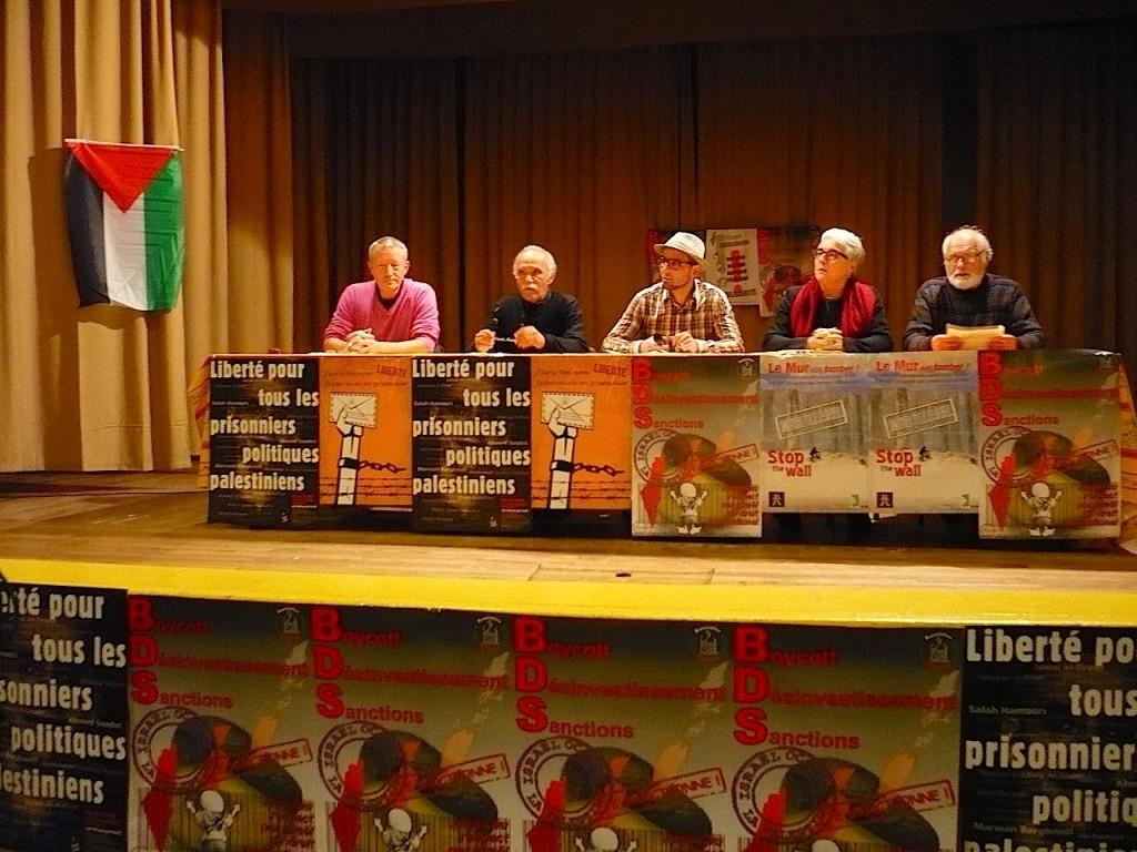 Soutien aux 12 boycotteurs de Mulhouse, avec Nicole Kiil-Nilsen et Michel Warschawski