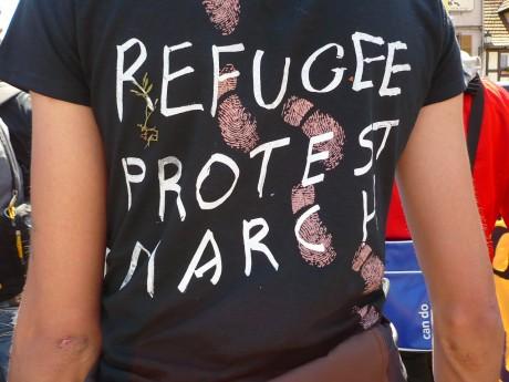 Marche européenne des sans-papiers, étape de Kehl-am-Rhein à Strasbourg