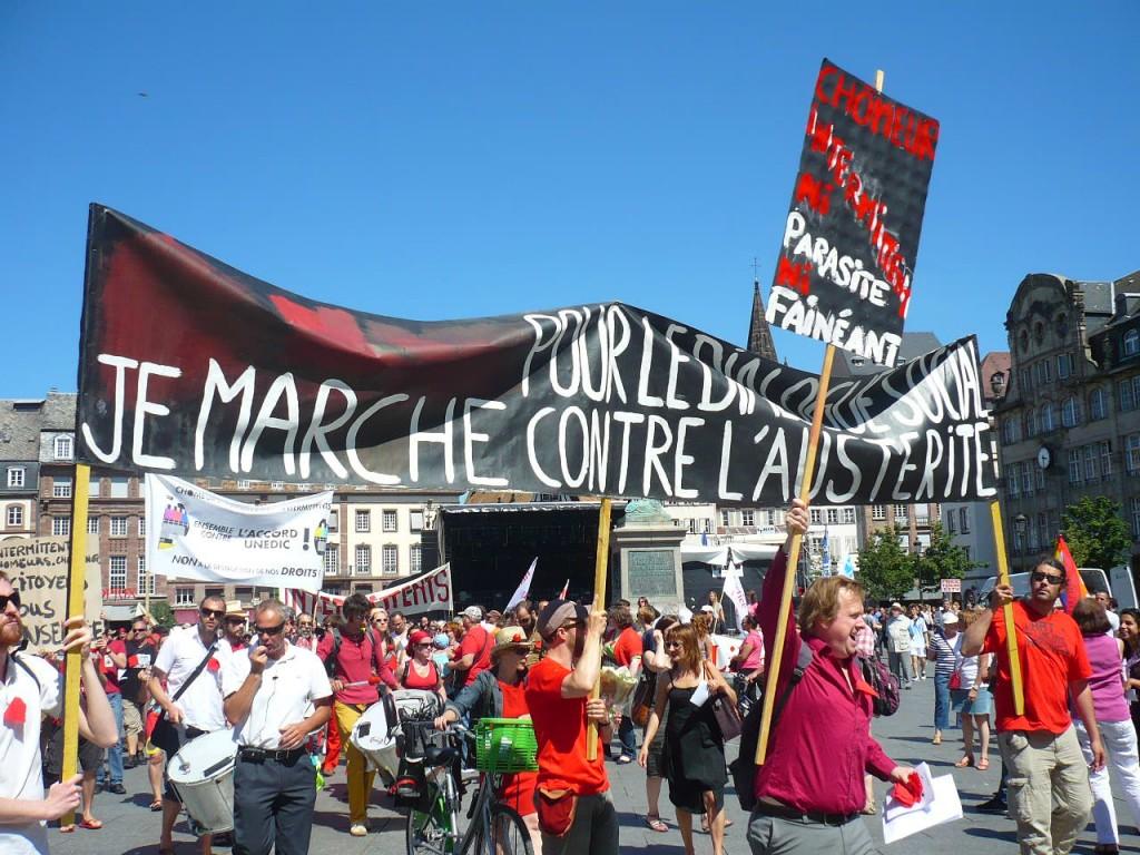Intermittents-cheminots-précaires : Marche pour le dialogue social et contre l'austérité