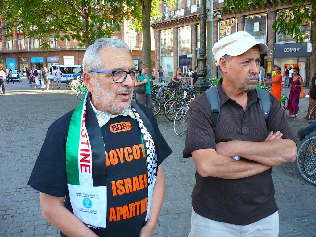 Premier rassemblement à Strasbourg contre les agressions israéliennes en Palestine