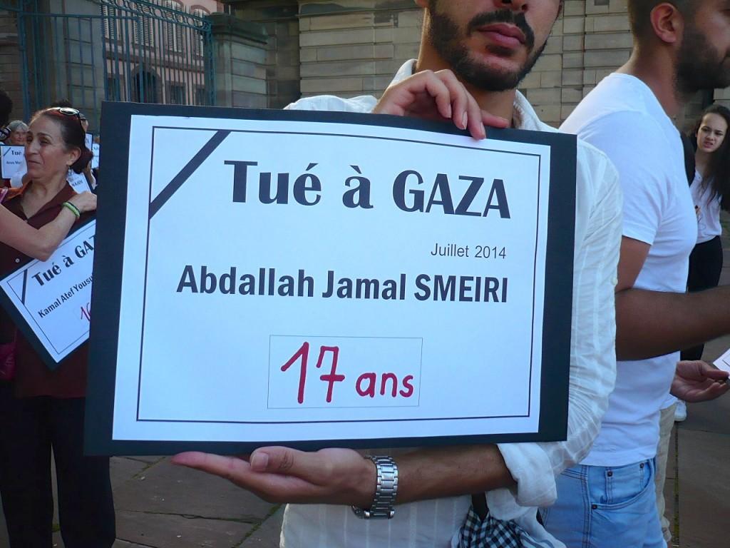 Strasbourg : Hommage aux victimes de Gaza