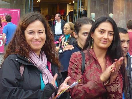 Pinar Selek à la Marche pour le droit des filles à l'éducation