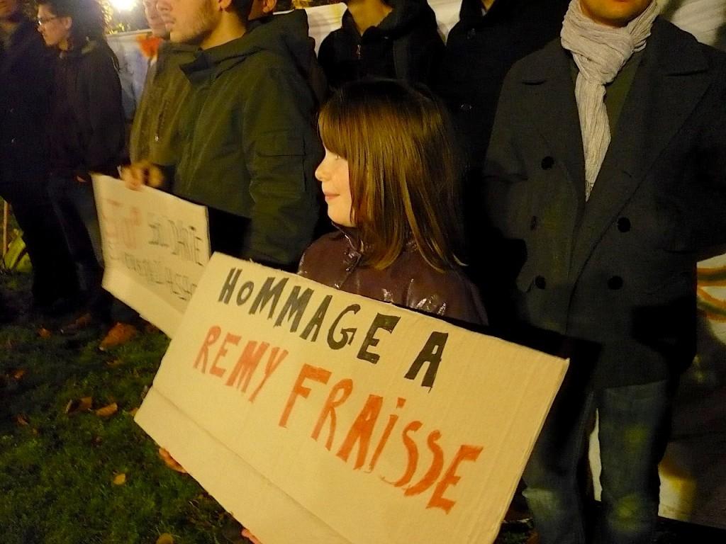 Hommage à Rémi Fraisse à Strasbourg
