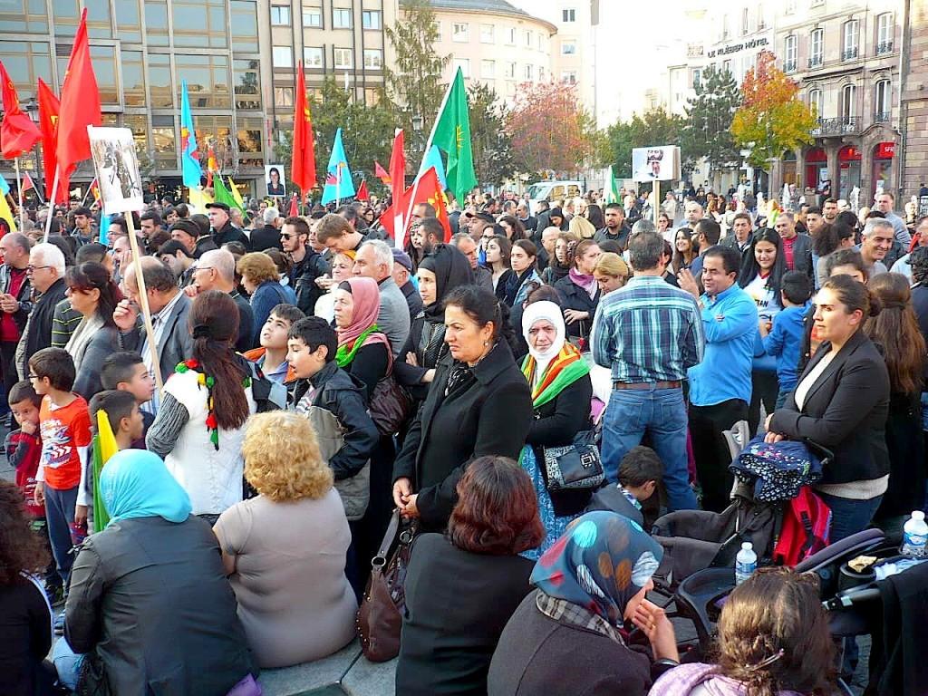 Strasbourg : Manifestation mondiale contre Daesh -pour Kobané- pour l'Humanité
