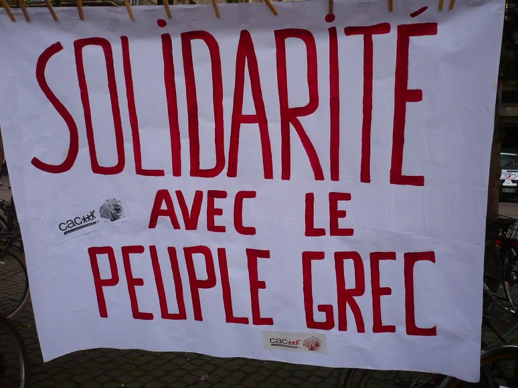 Strasbourg : Solidarité avec le peuple grec, contre l'austérité