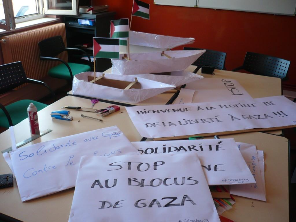 Strasbourg : Rassemblement de soutien à la Flottille de la liberté III vers Gaza
