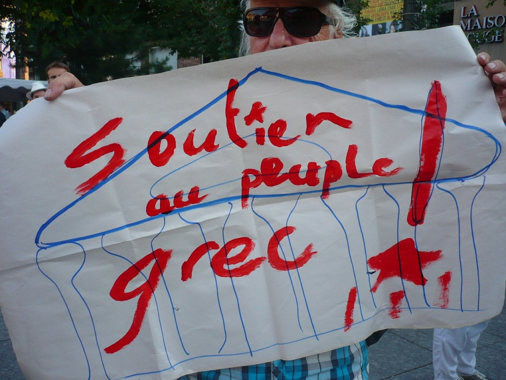 Grèce/Strasbourg: résistance à l'austérité