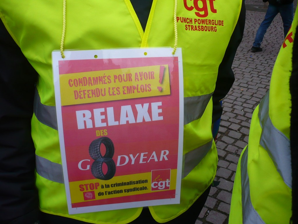 Strasbourg : Solidarité avec les Goodyear !