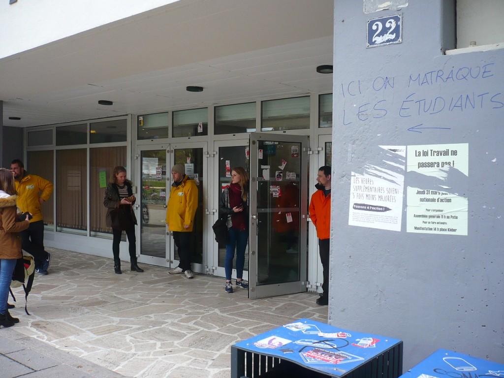 La sécurité privée de l'Unistra filtre les étudiants en lutte