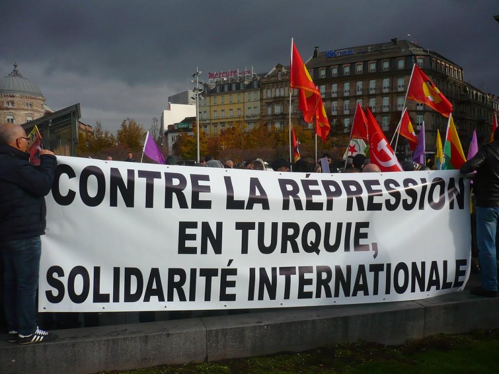 Manifestation à Strasbourg contre la répression en Turquie