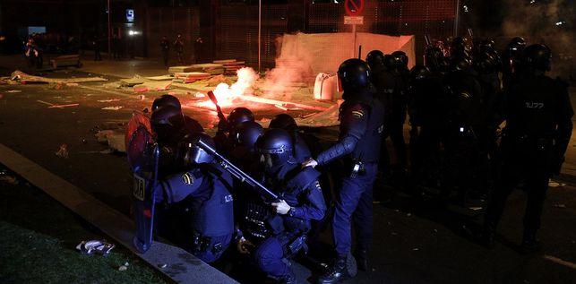 Violence à la marche pour la dignité à Madrid