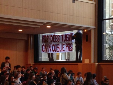 Non au FN à Science-Po ! Solidarité avec les militants antifascistes réprimés !