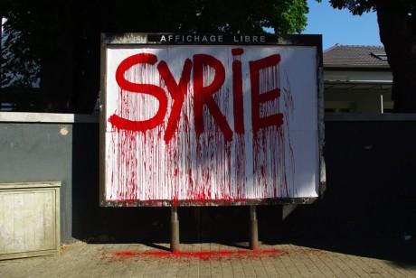 Le tueur Bachar al Assad à l'oeuvre