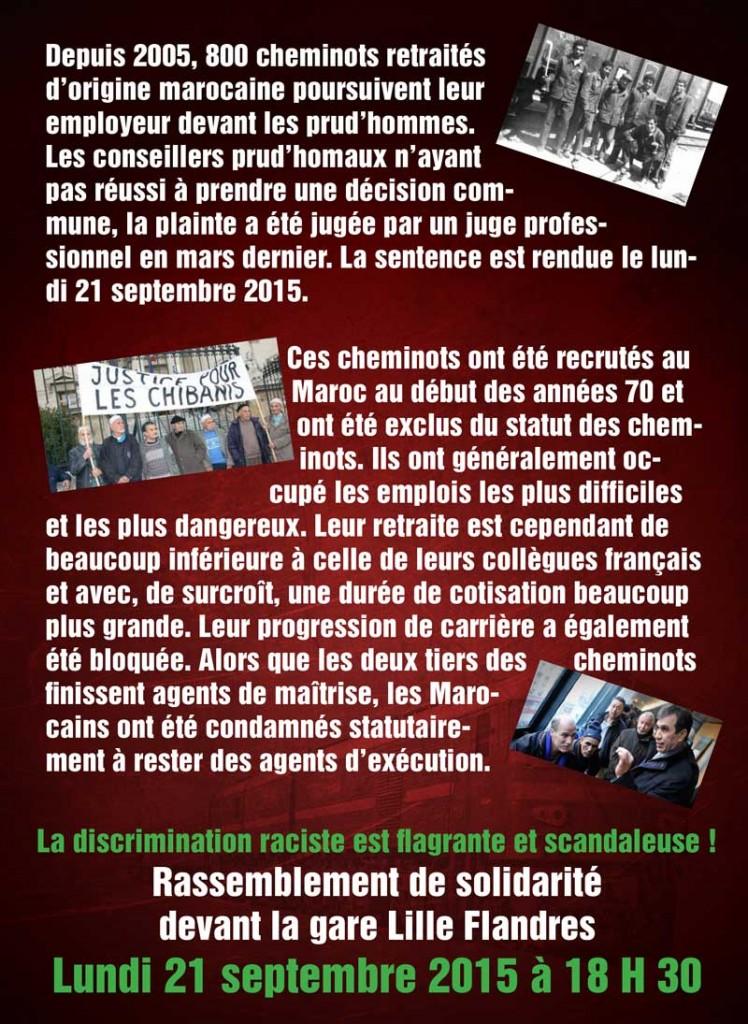 SNCF: Chibanis marocains discriminés