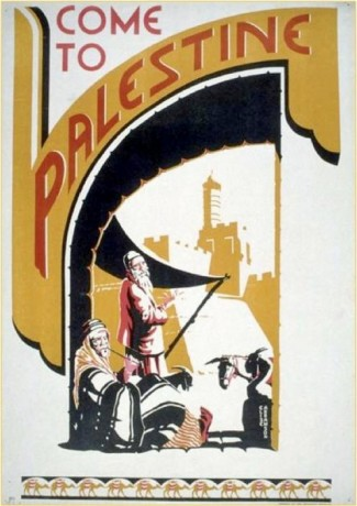 Come to Palestine- poster travel 1938
