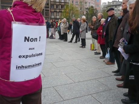 Cercle de silence 30 mars 2012 Strasbourg