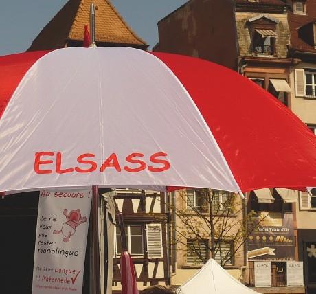 Mobilisation pour la défense des langues régionales en Alsace