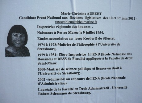 Une candidate bleu marine FN née au Maroc…