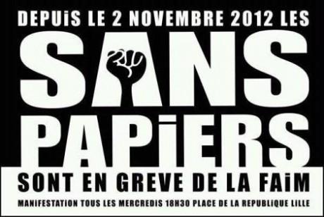 Lille : enregistrements de sans papiers en grève de la faim