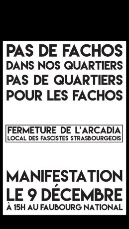 Non au local fasciste à Strasbourg !
