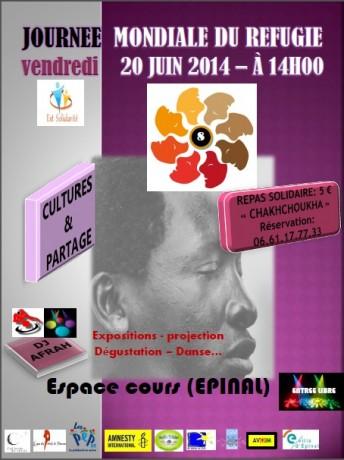 Epinal: 8e journée mondiale du réfugié 20 juin 2014