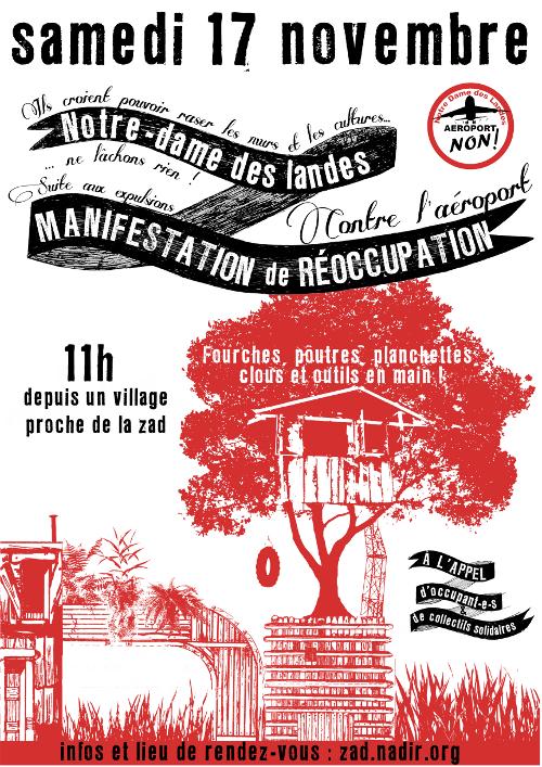 Manifestation de réoccupation de la ZAD le 17 novembre 2012
