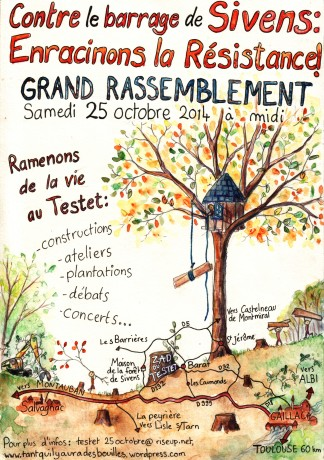 25 octobre 2014: Grand rassemblement contre le barrage de Sivens