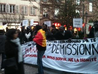 Manifestation contre le consul du Sénégal à Strasbourg