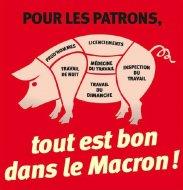 Manifestation à Strasbourg contre la loi Macron le 24/01