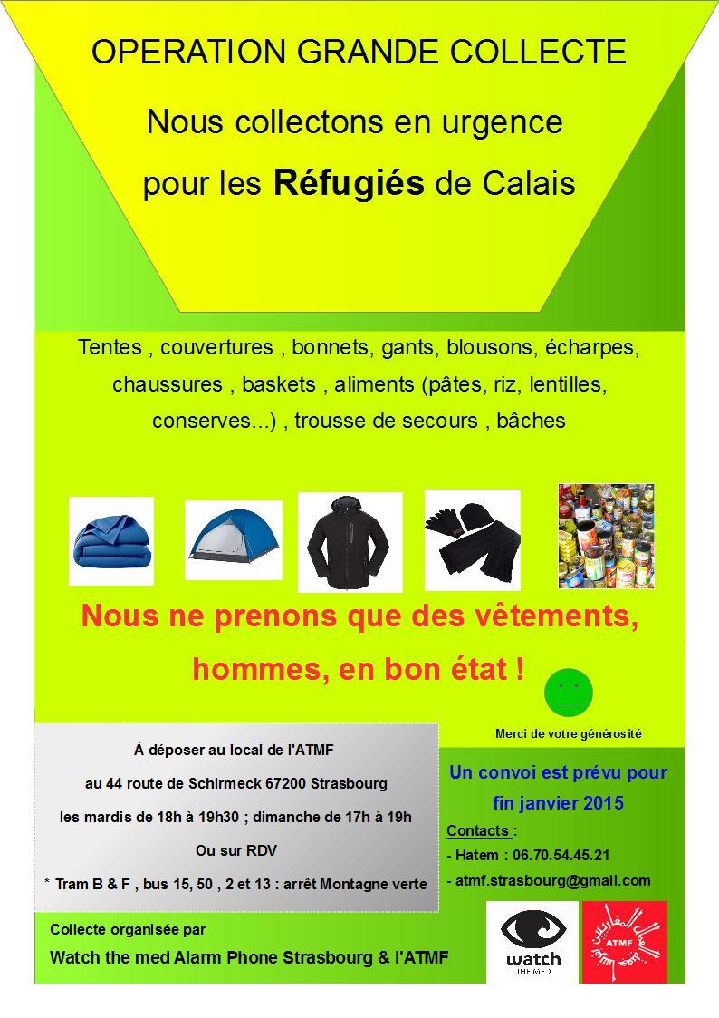 Urgence Calais : opération grande collecte