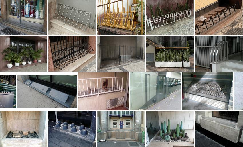 La ville anti SDF: un mobilier pas très urbain, suivi de Bancs publics, chevalets de torture…