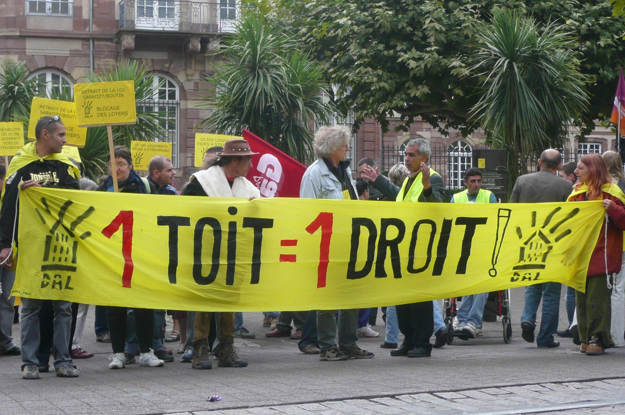 Contre la reprise des expulsions locatives, manifestation samedi 30 mars à Strasbourg