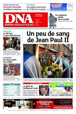 Une page d'anticléricalisme primaire et de critique des médias: Très chrétiennes Dernières Nouvelles d'Alsace, catholico-pentecôtistes…