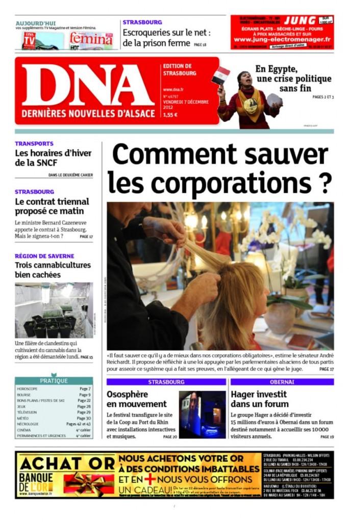 Les Dernières Nouvelles d'Alsace deviendraient-elles régionalistes ou autonomistes?