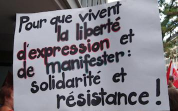 APPEL : Contre la mise en cage du droit de manifester