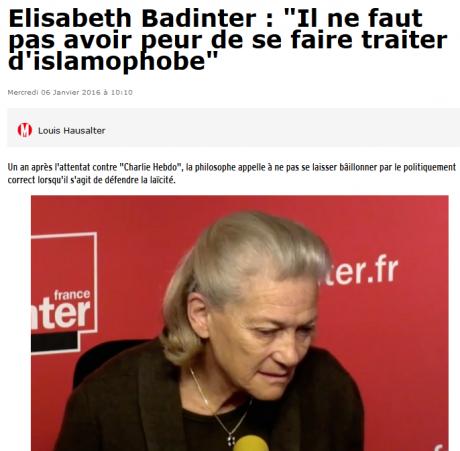 Elisabeth Badinter, récidiviste