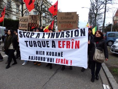 Strasbourg : des milliers de Kurdes et d'Alévis ont manifesté