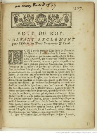 Le recteur de l'Académie de Strasbourg et l'enseignement du droit canonique